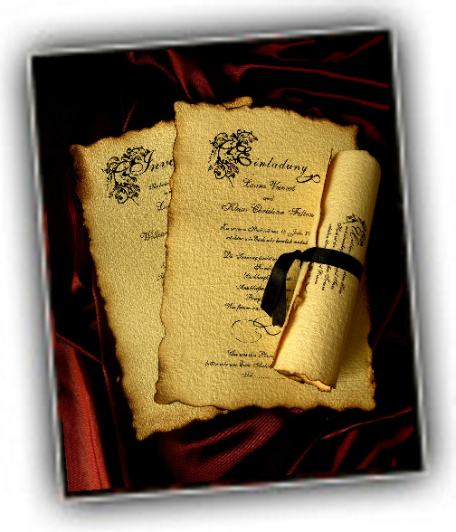 Old English-wedding-invitation