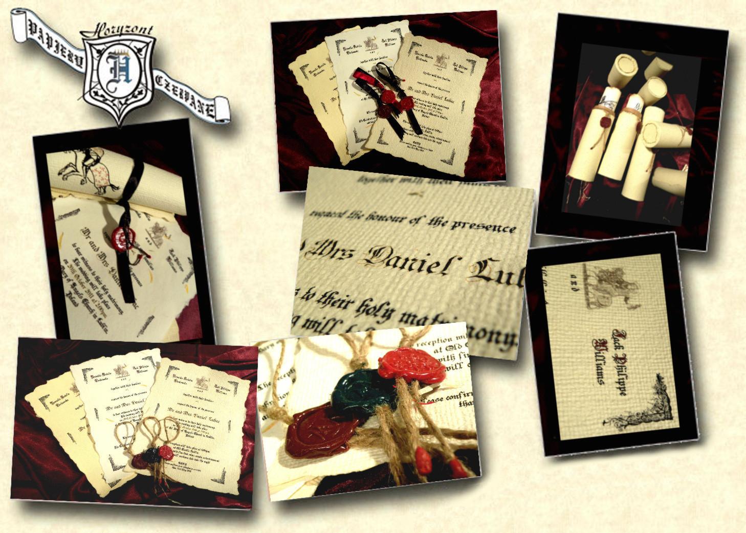 Knight wedding invitations, Scroll of parchment, Castle wedding ...